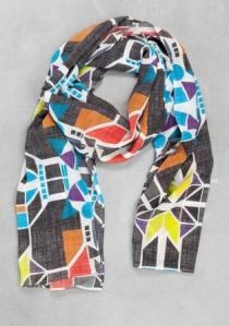 Alyson Fox Geometric Print Scarf £39