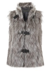 mint velvet grey fur gilet