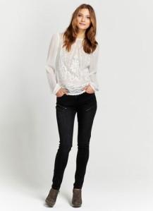 mint velvet ivory embellished blouse