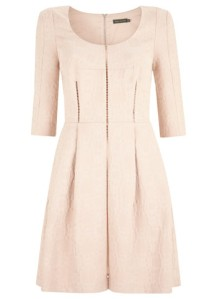 mint velvet pink shell a-line dress