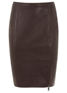 mint velvet wine leather pencil skirt