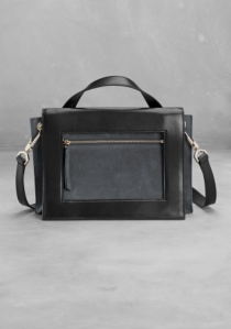 & other stories two-tone shoulder bag